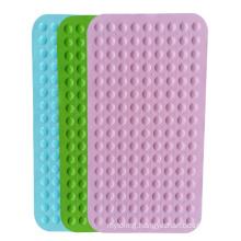 Custom non-slip anti- bacterial massage silicone bathtub bathroom mat heat-resistant shower mat