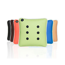 Battery Operated Back Massage Pad / Electric Vibrating Car Travel Neck Massage Pillow Rechargeable Vibrating Massage Cushion