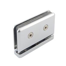 Glass door clip for hotel bathroom