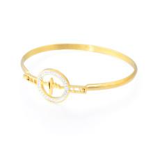 Hot Sale Lady Charm Bracelet Models Handmade Gemstone Bangle Gold