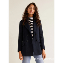 Manteau en fausse laine Regular Slim Young Ladies