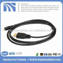 Micro HDMI to HDMI male Cable for mobile Droid Razr Atrix 2 Droid X HTC EVO 4G