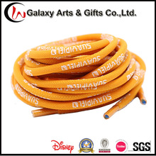 Custom 5mm Polyester Round Jacqaurd Shoelace with Plastic Tip