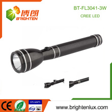 Factory Wholesale 2AA Ni-Mh Batterie Matériau en métal usé Long Beam Camping 3w High Power Rechargeable Led Flashlight
