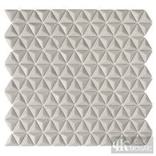 3D Beige Glass Mosaic Shower Tiles for Sale