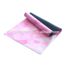 Eco-frinedly Non-Slip Custom Printed Rubber Yoga Mat Wholesale Eco Friendly Fit Mat Anti Slip micro fabric Yoga Mat Recycled