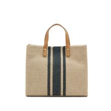2021 Fashion Ladies Korean Style Jute Handbags Tote Bags Handbag for Women
