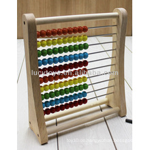 Hölzernes abacus rack pädagogisches hölzernes spielzeug