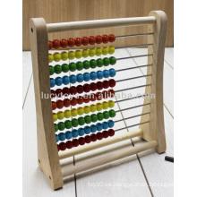 Wooden abacus rack educativo de juguete de madera