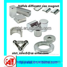 Neodymium magnet with various sizes and different shape (CE/ROHS approved)