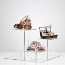 Abgestufte Acryl Display Ständer für Schuhe