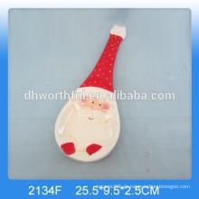 Personalisierte keramische Weihnachtslöffelhalter mit Sanktmalerei