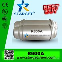 Изобутан r600a при горячей продаже с высокой степенью чистоты 99,9%
