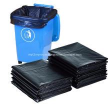 Bolsa de basura plana de HDPE negra