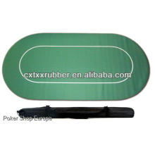 card game poker polyester top with case holdable 6 person
