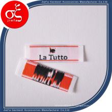 Étiquette tissée à haute densité douce de marque personnalisée bon marché / étiquette principale / étiquette de cou