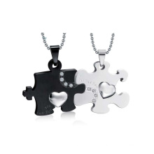 Beautiful black and white pendant,double pendant locket jewelry design