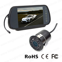 Monitor de espejo de inversión de 7 pulgadas con mini cámara de parachoques de vista trasera