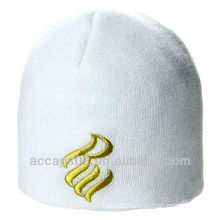 Hot acrylic custom promotional embroidered beanie hat