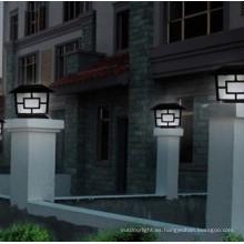 aluminio led lámpara Solar del pilar