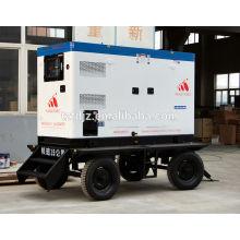 Type silencieux mobile de remorque de groupe électrogène diesel 75KW CUMMINS avec le certificat de la CE