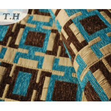 2016 Rectangular Pattern High-Quality Jacquard Sofa Cloth (FTH31614)