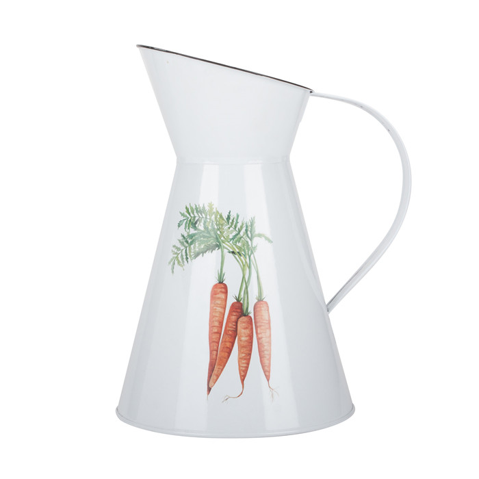 White Powder Coated Flower Jug