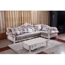 Neo classic L shape living room sofa with coffee table KW9105