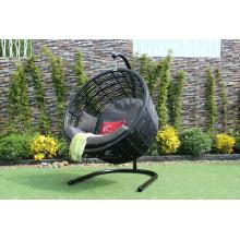 Modern Round Swing Chair Poly Rattan Hammock