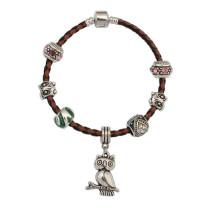 Bracelet tissé sur mesure, Bracelet adolescente populaire, Bracelet en cuir noir