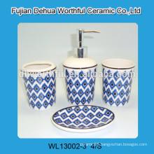 Handmade 4 pcs of ceramic bathroom decorations