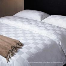 Polycotton50/50 Satin Check Hotel Bedding Set (WS-2016272)