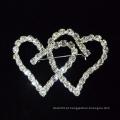 2015 novo coração forma cristal broche pinos para o vestido de noiva