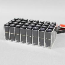Support de rouge à lèvres en acrylique transparent bon marché avec 32 fentes