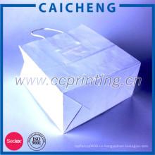 Мода стиль пользовательские бумажный мешок с логотипом печать