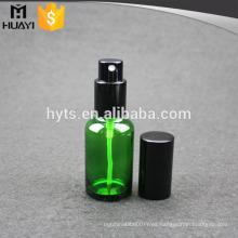 Botella de cristal del aceite esencial verde al por mayor de 30ml con la bomba de aluminio