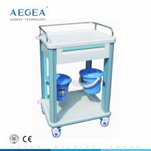 AG-CT006B1 un tiroir ABS en plastique hôpital clinique chariot instrument médical chariot à vendre