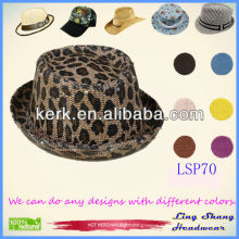 2013 The Latest Fashion Leopard Style 100% Paper Straw Hat fashion staw hat ,LSP70