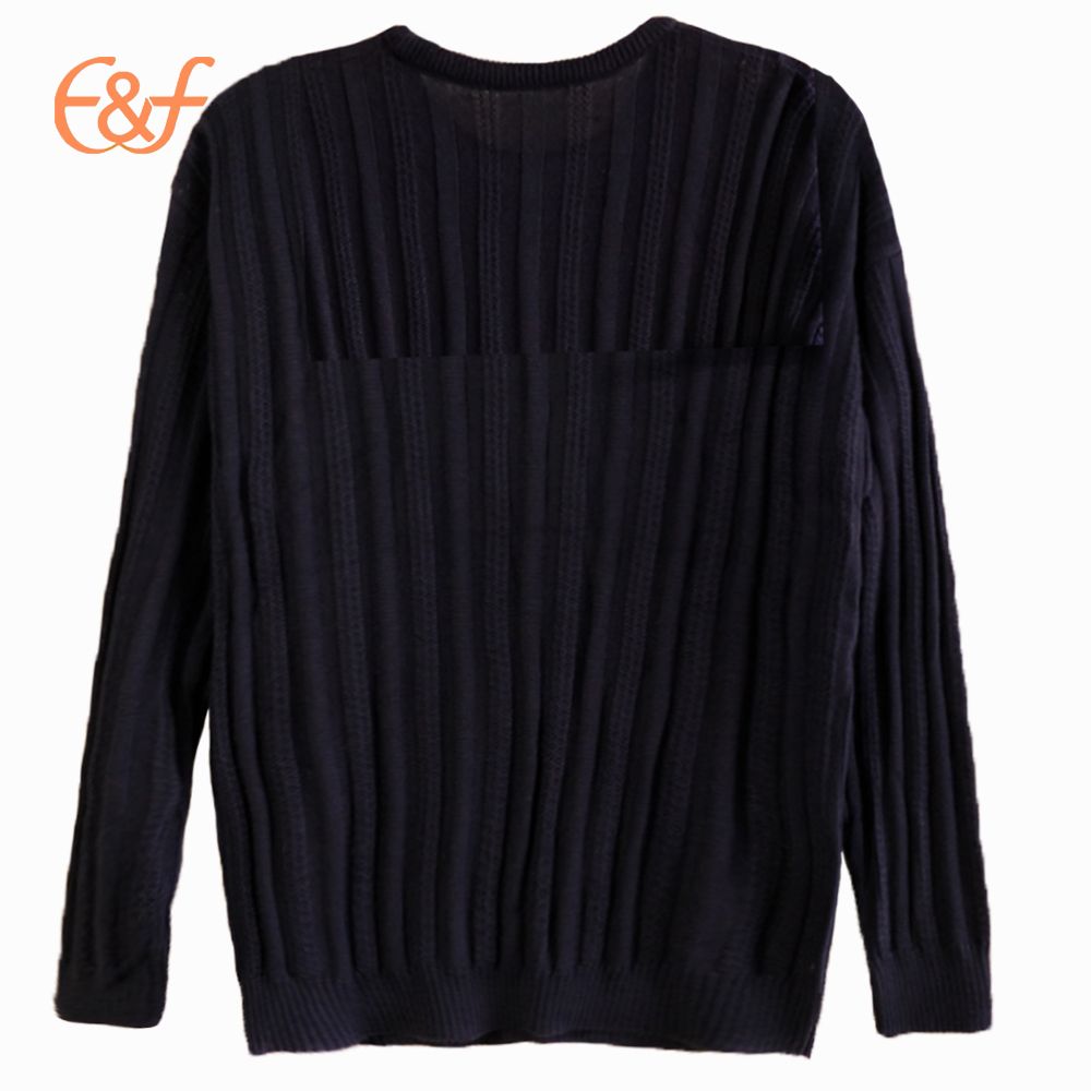 Mens 100% Arcylic Pullover Black Sweater