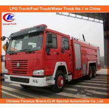 Heavy Duty Sinotruk Sino HOWO Água Espuma Tanker Rescue Caminhões de combate a incêndios 12, 000 litros à venda