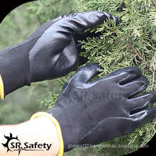 13G Black Seamless Knitted Nitrile Protection Gloves/safety protection gloves