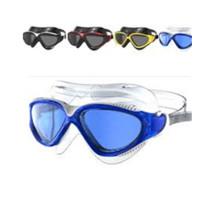 Cómodas gafas de natación de goma de silicona con lente antivaho
