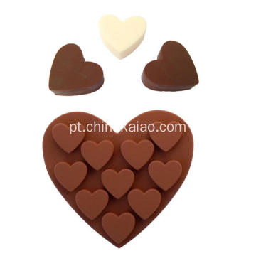 Bandeja de silicone com base em chocolate e geléia de chocolate