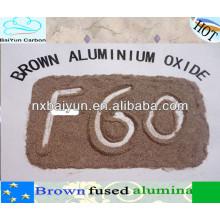 Matéria-prima alumina fundida marrom para refratários