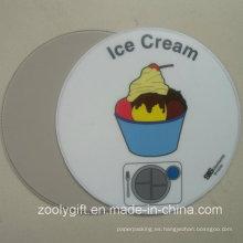 Forma redonda de helado impreso PVC Placemat ronda de PVC de montaña
