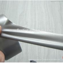 EN471 alta luz gris plata 4 vías tela de reflejo elástico