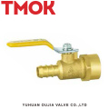 brass color long handle inner wire ball valve