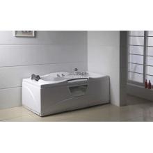 Square White Acrylic Sanitary Whirlpool Massage Bathtub (M-06)