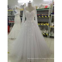 Aoliweiya Personalizar Vestidos de novia de la boda con Appliques flor