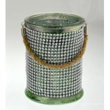 New Design Diamond Cylinder with Hemp Rope Handle